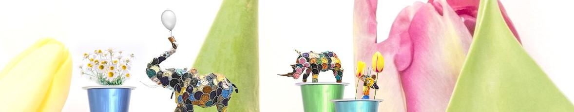 Ikhoba Kaffeekapsel Tiere