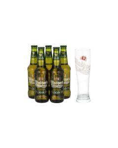 Sonderpaket - 5 x Windhoek Lager plus GRATIS Glas