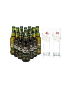 Sonderpaket - 10  x Windhoek Lager plus GRATIS Gläser