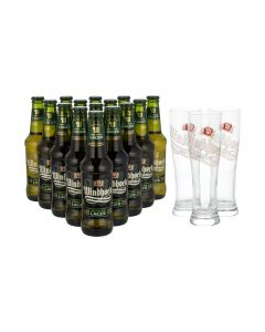 Sonderpaket - 15  x Windhoek Lager plus GRATIS Gläser