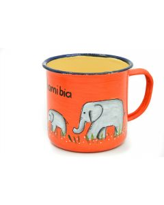 Ikhoba Blechtassen (Koppies) Elefant orange