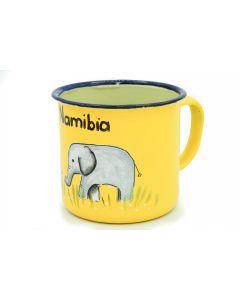 Ikhoba Blechtassen (Koppies) Elefant gelb