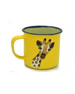 Ikhoba Blechtassen (Koppies) Giraffe gelb