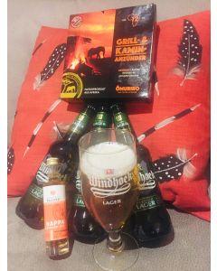Feierabend Paket mit gratis Windhoek Lager Pilsglas