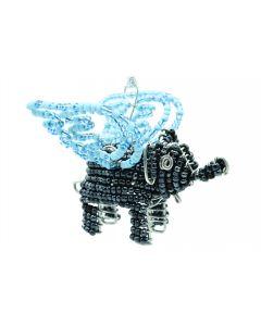 Ikhoba Weihnachtsschmuck Elefant blauer Flügel