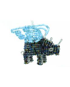 Ikhoba Weihnachtsschmuck Nashorn blauer Flügel