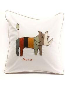 Anin Namibia Kissenbezug Warzenschwein weiss