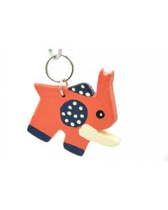 Ikhoba Schlüsselanhänger Elefant orange-schwarz