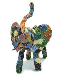 Ikhoba Elefant groß - bunt