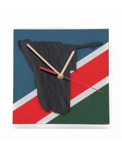 Uhr Namibia Fahne, 16,5cm x 16,5cm