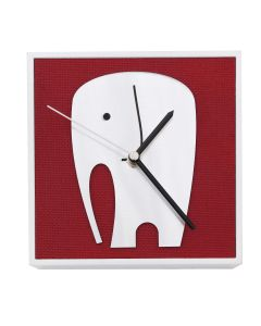 Uhr Elefant Silber, 10cm x 10cm