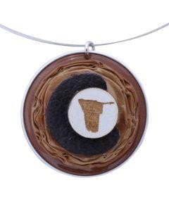 Kaffeekapselschmuck Namibia Braun