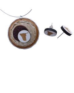 Kaffeekapselschmuck Namibia Ohrstecker plus Anhänger
