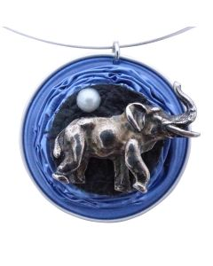 Kaffeekapselschmuck Elefant Blau