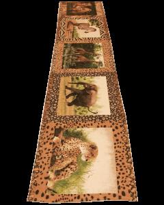 Tischläufer mit Afrikanischen Tiermotiven - 225 cm x 34 cm