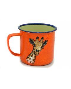 Ikhoba Blechtassen (Koppies) Giraffe orange