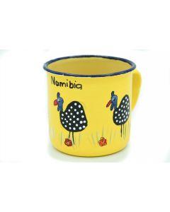 Ikhoba Blechtassen (Koppies) Perlhuhn gelb
