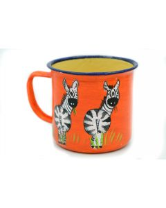 Ikhoba Blechtassen (Koppies) Zebra orange