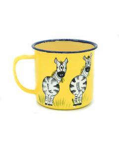 Ikhoba Blechtassen (Koppies) Zebra gelb