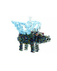 Ikhoba Weihnachtsschmuck Warzenschwein blauer Flügel